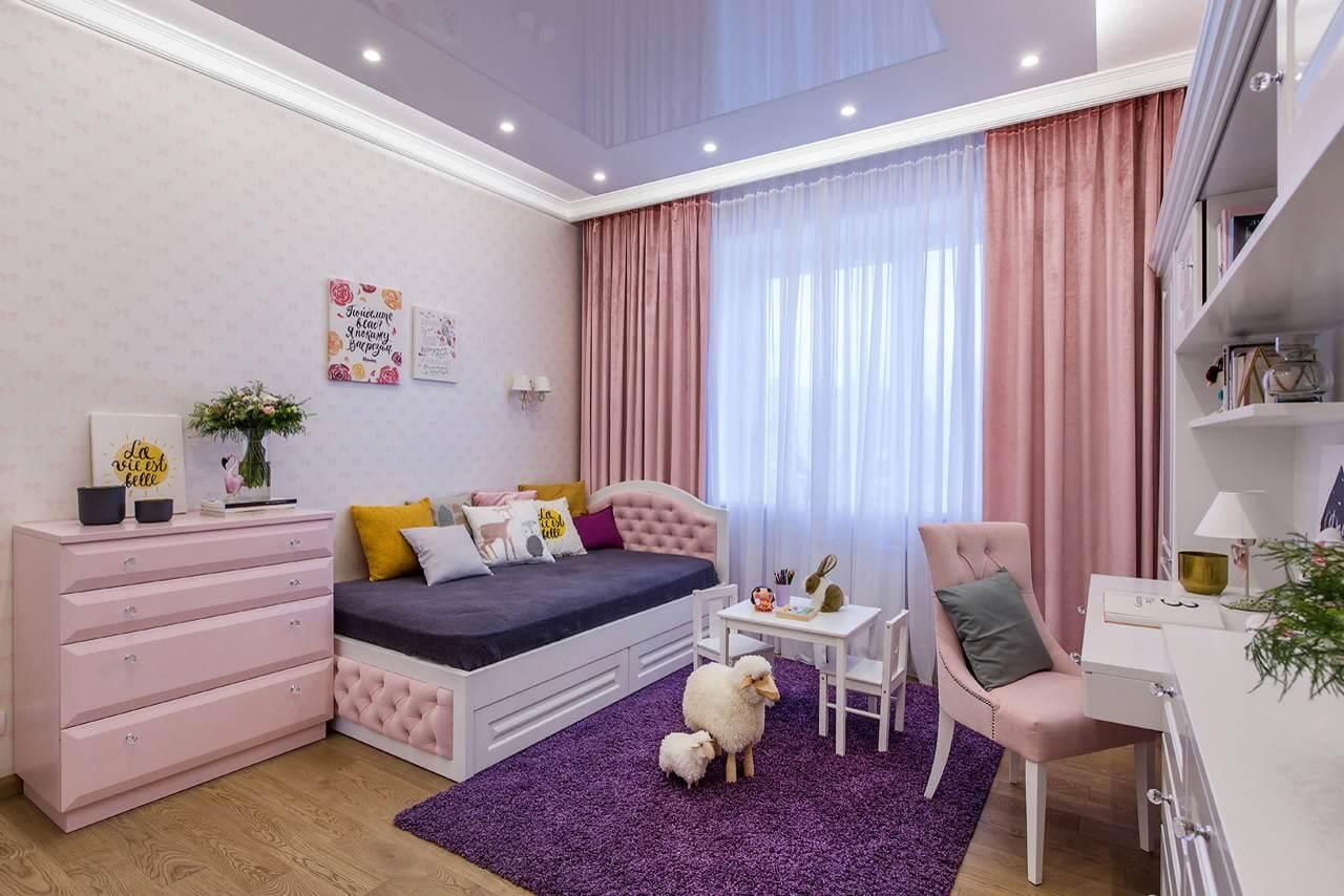 Детска стая в розово и лилаво
