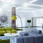 Свежи идеи за модерен хол