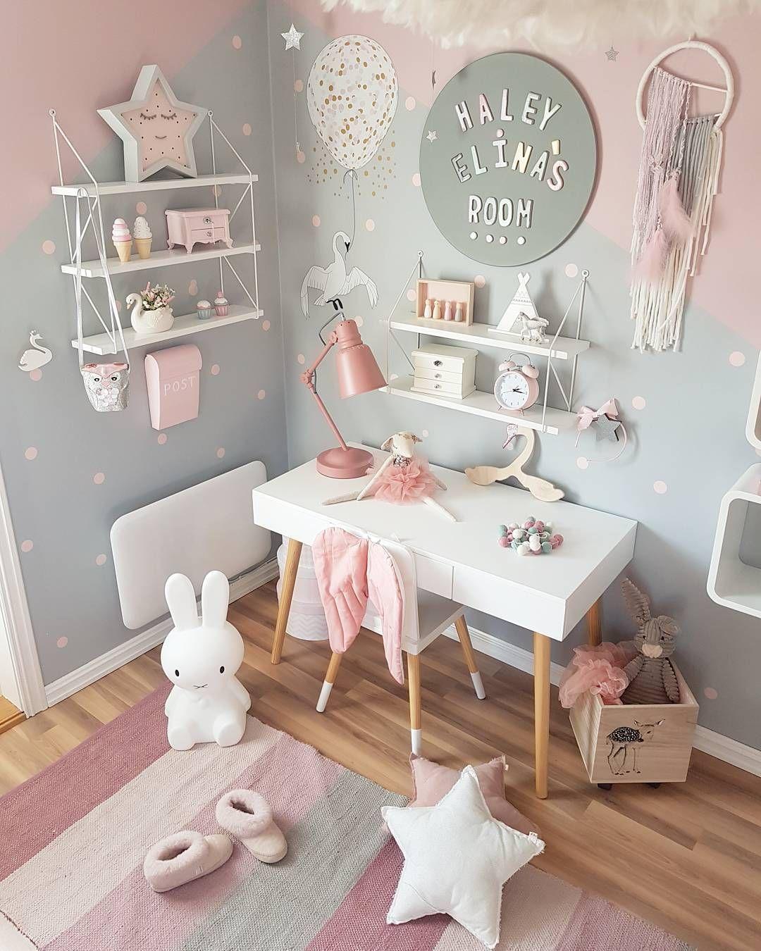 Цветова комбинация в детска стая за момиче