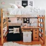 Детска стая за момиче с легло на втори етаж