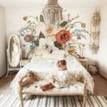Детска стая за момиче с цветен фототапет