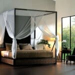 Идеи за спални с бял балдахин-3