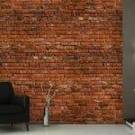 Невероятен тапет имитиращ тухлена стена от тухла единичка