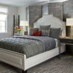 Красиви спални в сиво и червено