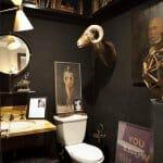 Идеи за баня в тъмни цветове