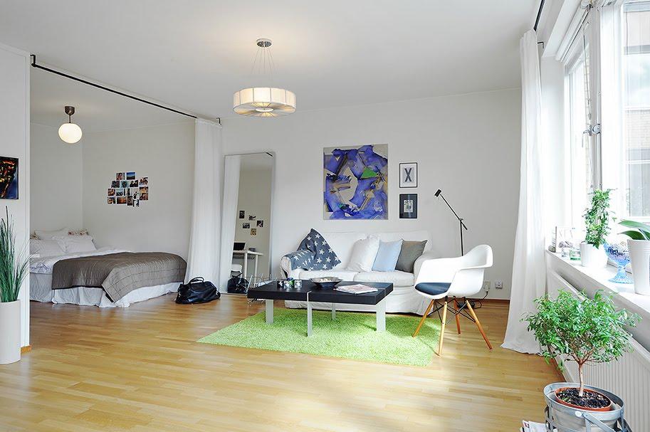 едностаен апартамент в бяло