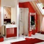 Страстни и модерни бани в червено