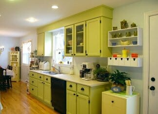 Разнообразие от идеи за кухня в зелено
