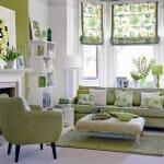 Практични идеи за интериор в зелено