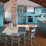 Привлекателни идеи за кухни в синьо