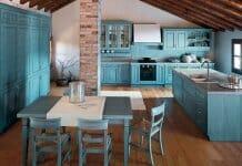 Многообразни нюанси на кухни в синьо