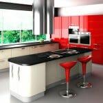 Варианти за стилна кухня в червено