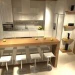Изискан и модерен интериорен дизайн на всекидневна