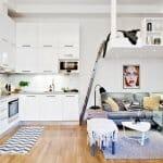 Удобството на малък апартамент в скандинавски стил