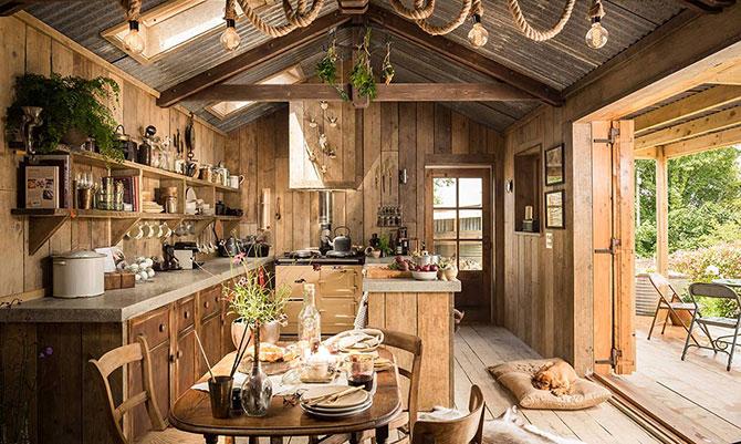Рустик къща от дърво