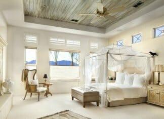 Изискани и нежни спални с балдахин
