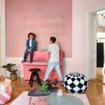 Уникален вариант на цветен скандинавски апартамент