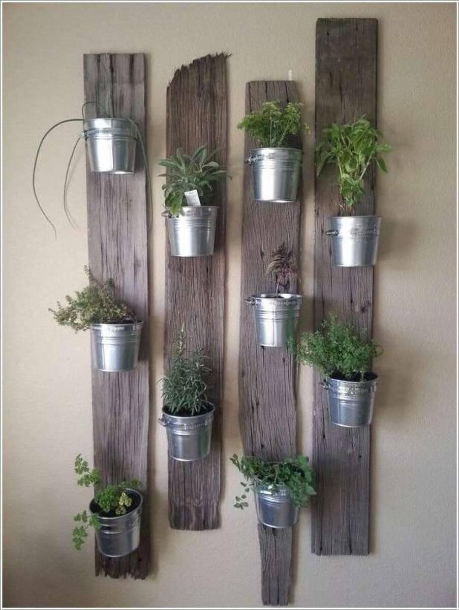 Рустик декор със стайни растения