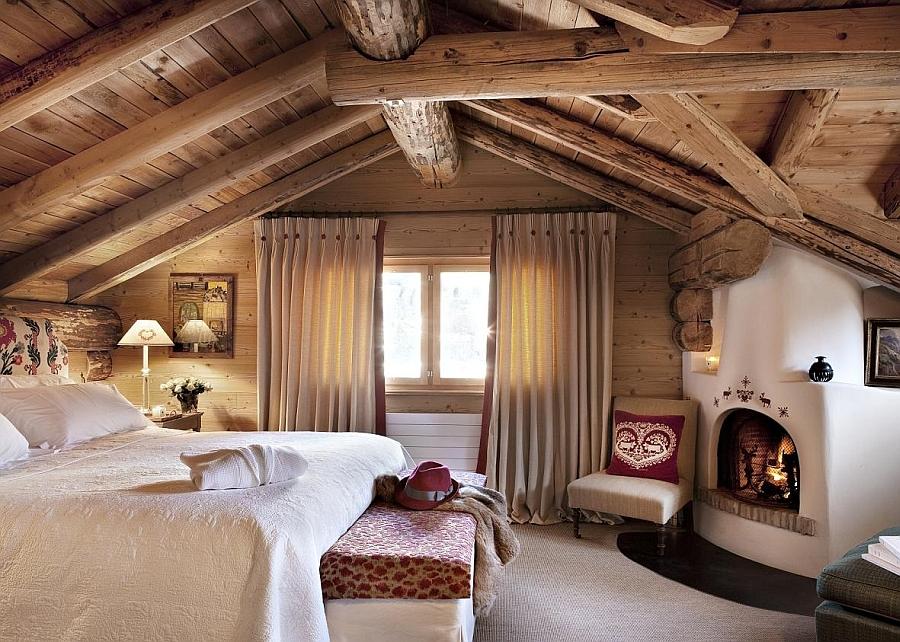 Красива рустик спалня