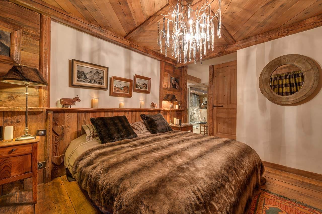 Интериор на спалня в стил Шале