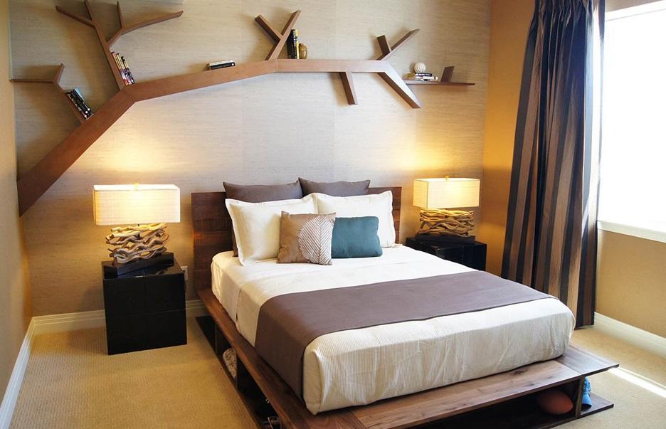 Интересна етажерка за спалня