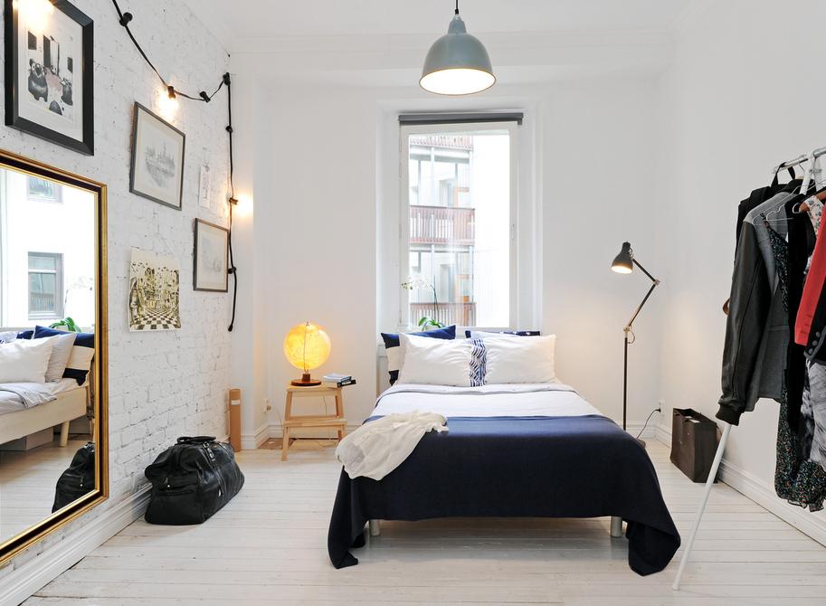 Красива спалня в скандинавски стил