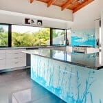 Кухненски остров от принт стъкло