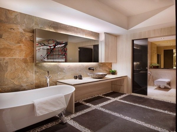 Красиви идеи за баня с вградено осветление