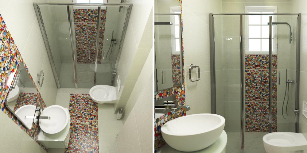 3D проект на малка баня