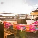 Покривна тераса с хамак