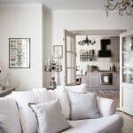 Хол с бял диван