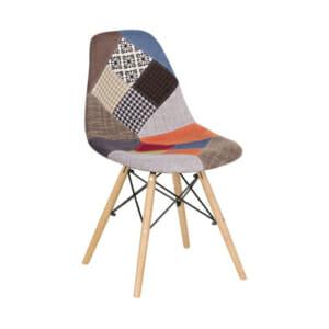 Шарен стол в скандинавски стил-дясно