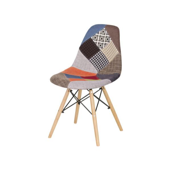 Шарен стол в скандинавски стил - снимка отляво