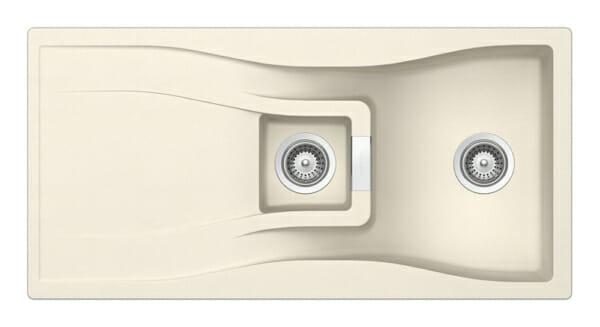 Луксозна гранитна мивка за кухня SCHOCK WATERFALL D150 в цвят Магнолия
