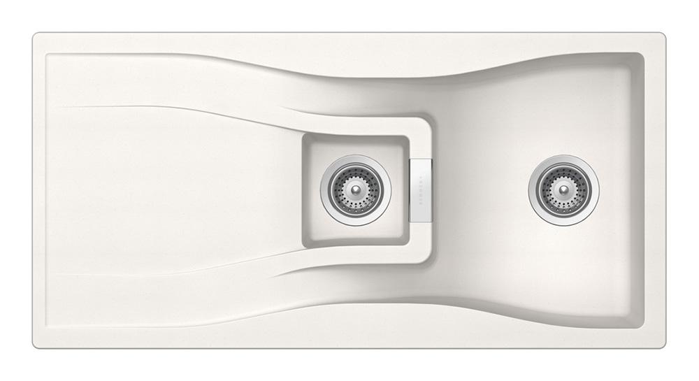Гранитна мивка за кухня SCHOCK WATERFALL D150 в цвят Polaris
