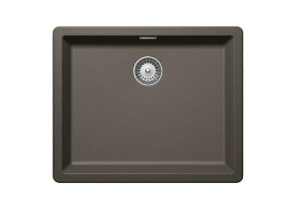 Почти квадратна мивка от гранит SCHOCK Greenwich N100L цвят Carbonium