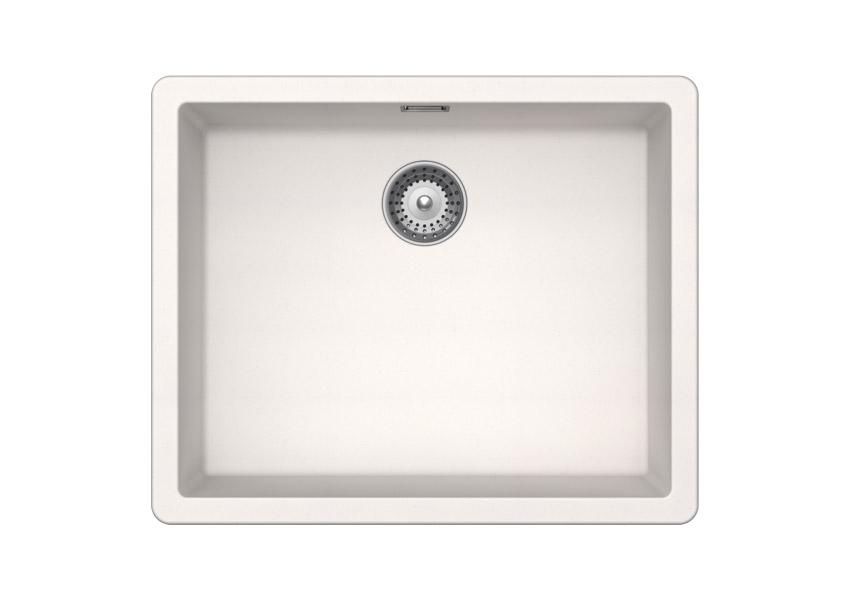 Бяла мивка от гранит SCHOCK Greenwich N100L цвят Polaris