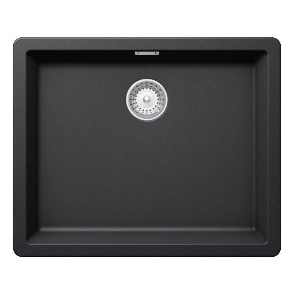 Черна мивка от гранит SCHOCK Greenwich N100L (цвят Puro)