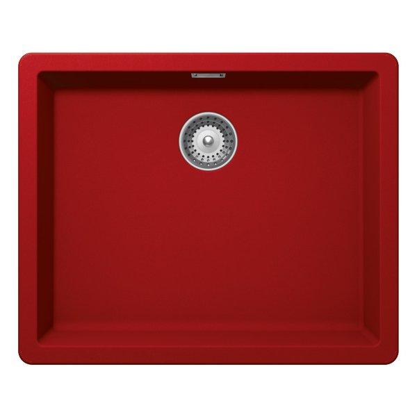 Червена мивка от гранит SCHOCK Greenwich N100L (Rouge)