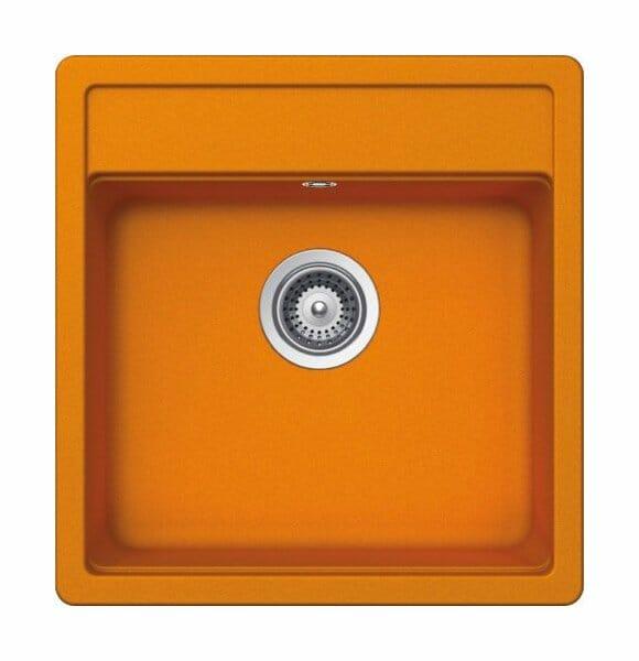 Гранитна мивка SCHOCK Nemo N100S цвят Bright Orange