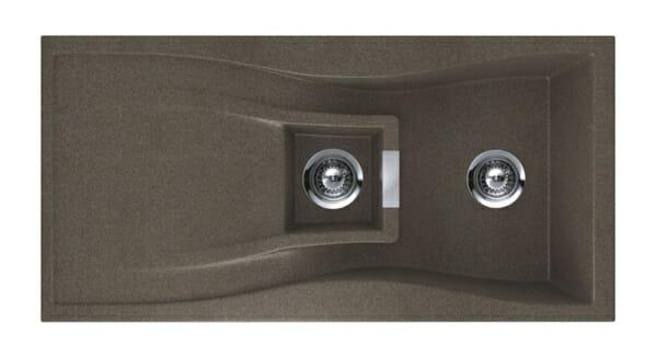 Гранитна мивка за кухня SCHOCK WATERFALL D150 в цвят Bronz