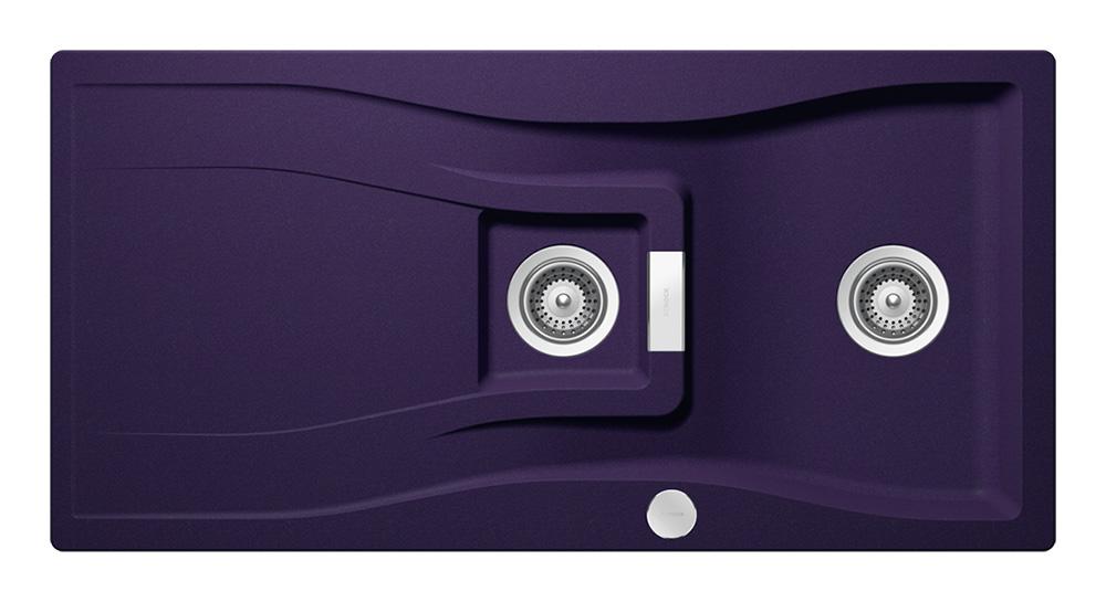 Гранитна мивка за кухня SCHOCK WATERFALL D150 в цвят Indigo