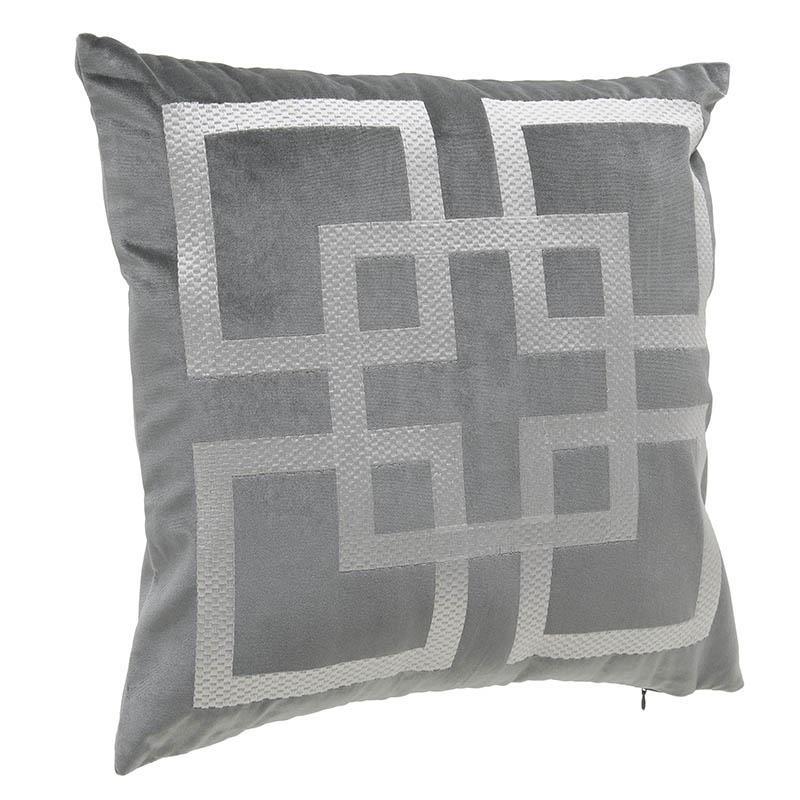 Декоративна възглавница в сиво