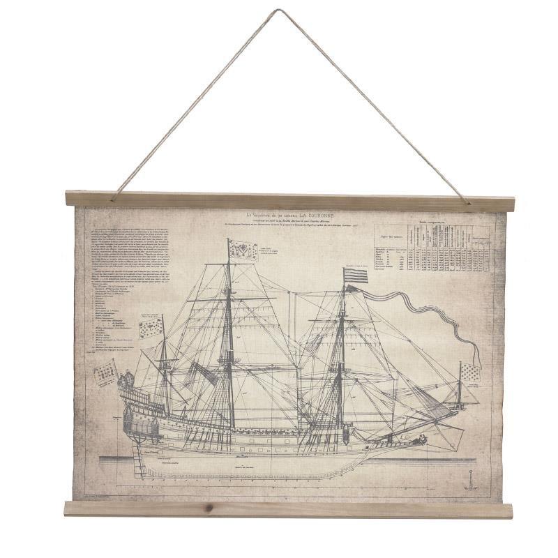 Декорация за стена с план на кораб