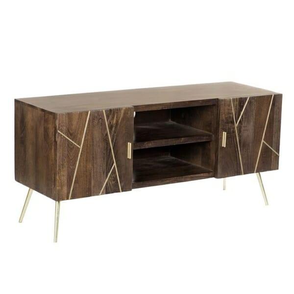 Дървен ТВ шкаф с крачета