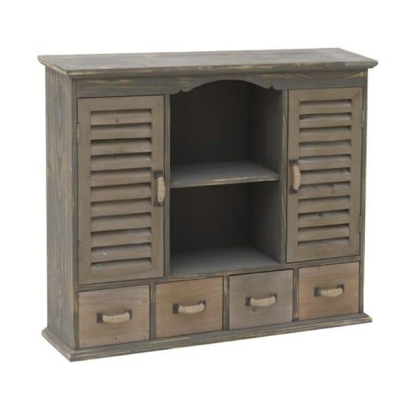 Дървен шкаф с много отделения