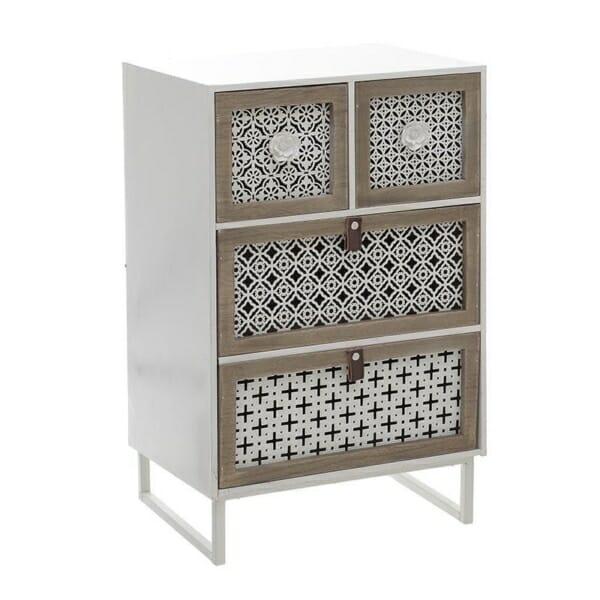 Дървен шкаф с четири чекмеджета