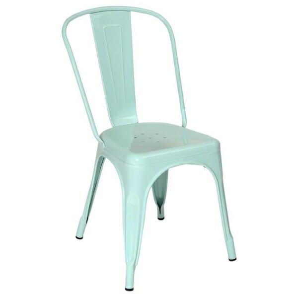 Зелен метален стол