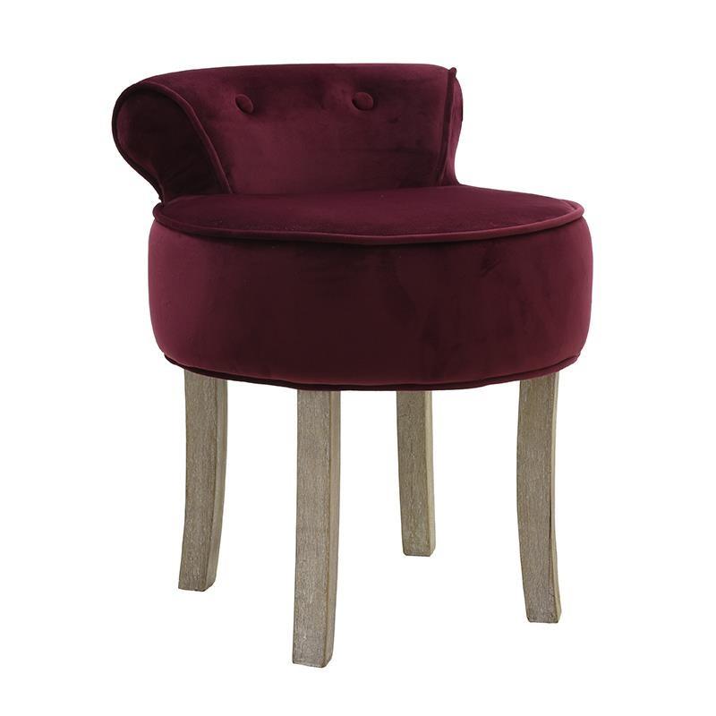 Кадифен стол с ниска облегалка