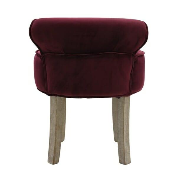 Кадифен стол с ниска облегалка - отзад